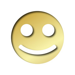 gold smiley happy emoticon