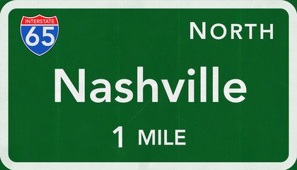 Nashville Interstate Highway Sign