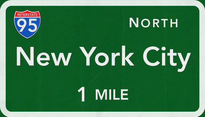 New York City Interstate Highway Sign