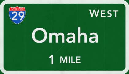Omaha Interstate Highway Sign