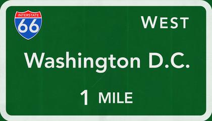 Washington D.C.  Interstate Highway Sign