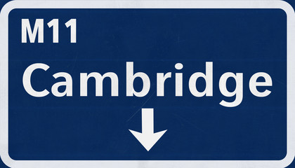 Cambridge United Kingdom Highway Road Sign