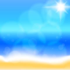 Sea beach. Vector