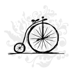 Bicycle retro, sketch for your design