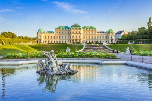 Tuinposter Kasteel Schloss Belvedere #2, Wien