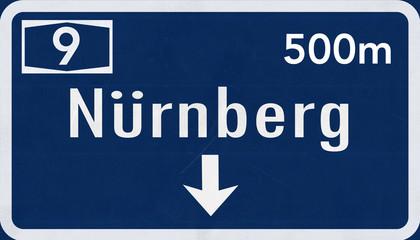 Germany Nürnberg / Nuremberg Highway Sign