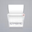 Paper Shredder Machine Vector Illustration - 77694183