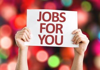 Jobs for You card with colorful background
