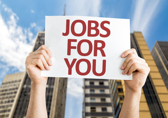 Jobs for You card with a urban background