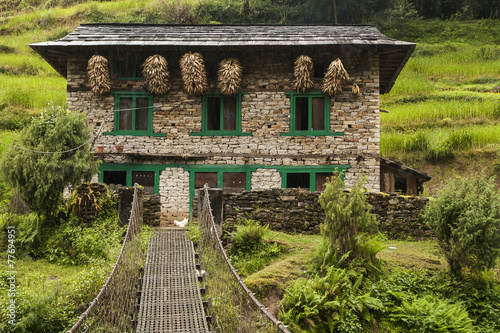 Fotobehang Nepal building