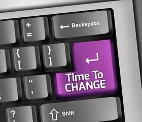 Keyboard Illustration Time To Change