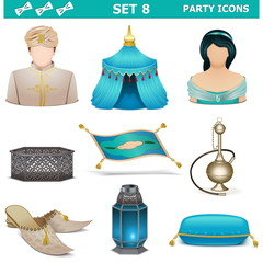 Vector Party Icons Set 8