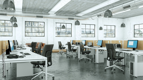 modernes Büro im Loft - 77695752