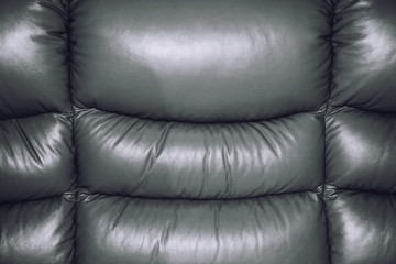 Silver-Grey Texture of Sofa Leather Background