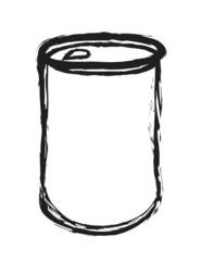doodle aluminum cans,  illustration design element