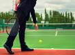 Businessman play tennis