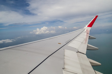 Aile d'avion en vol