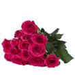 Pinker Rosenstrauß isoliert