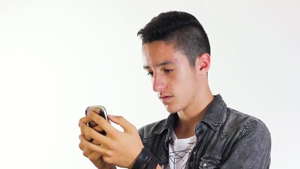 Boy with cell phone
