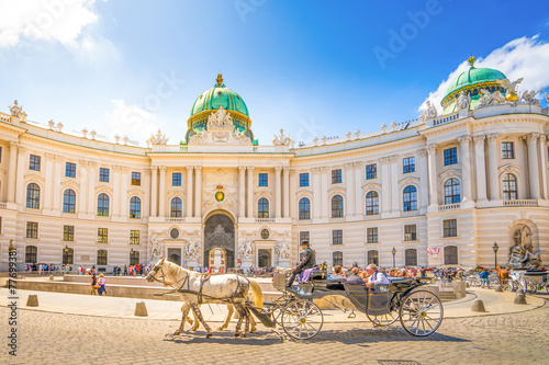 Leinwanddruck Bild Alte Hofburg, Wien