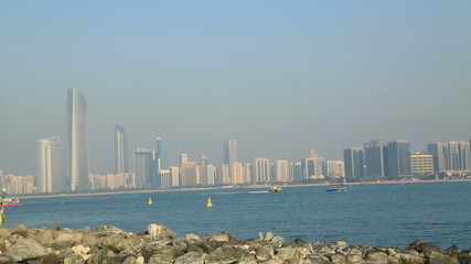 A view of the Abu Dhabi City
