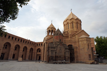 the Church and the ancient chapel at Yerevan
