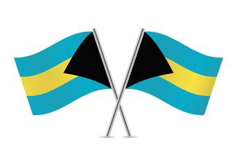 Bahamas flags. Vector illustration.