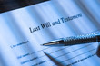 Person Writing Last Will and Testament - 77700766