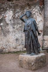 statue in the Roman theater of Merida