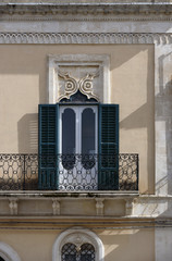 Italy, Sicily, Ispica (Ragusa Province), Liberty palace facade