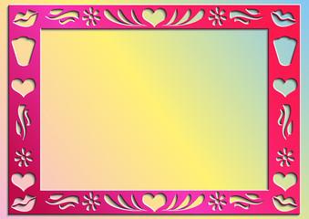 Бумажная рамка ко дню Святого Валентина