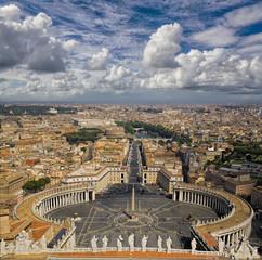 Blick vom Papspalast auf Rom