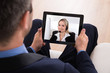 Businessman Video Conferencing