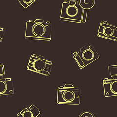 seamless background with photo camera symbols for your design