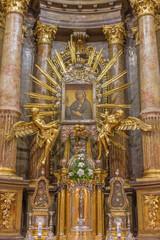 Trnava - baroque altar of Virgin Mary in St. Nicholas church