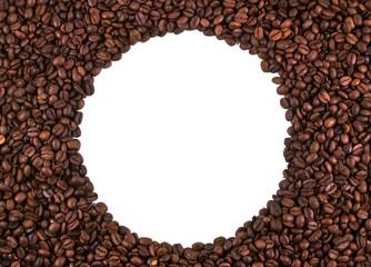 Окружность из кофейных зерен