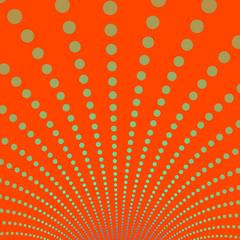 Gold Discs on Deep Orange Background