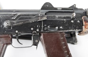 Kalashnikov rifle. First safety lever position.