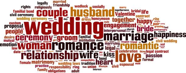 Wedding word cloud concept. Vector illustration