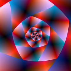 Blue Red and Pink Spiral