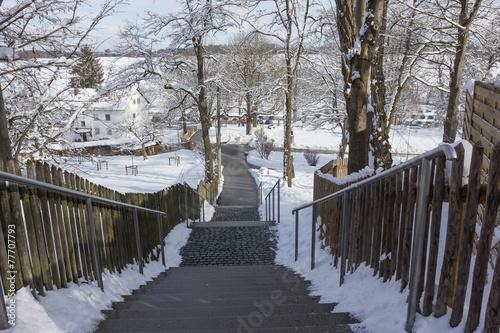 Leinwanddruck Bild Treppe Erlau-Andechs