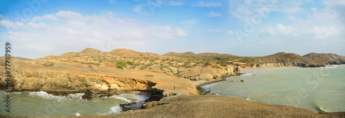 Papiers peints Plage Huge Panoramic View of Guajira Desert at Colombia. Traveling.