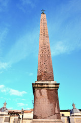 The Piazza del Popolo in Rome, Italy