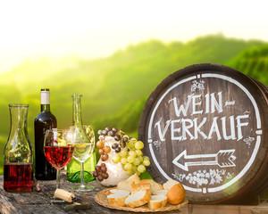 Weinverkauf im Weinberg vom Winzer