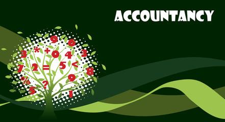 Green accountancy illustration