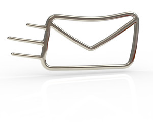 Silver mail icon