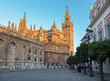 Seville - Cathedral with Giralda bell tower in morning