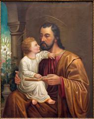 VIenna - St. Joseph paint on side altar of Salesianerkirche