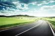 asphalt road in Tuscany Italy - 77710105