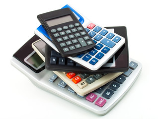 Many different design calculators on a white background